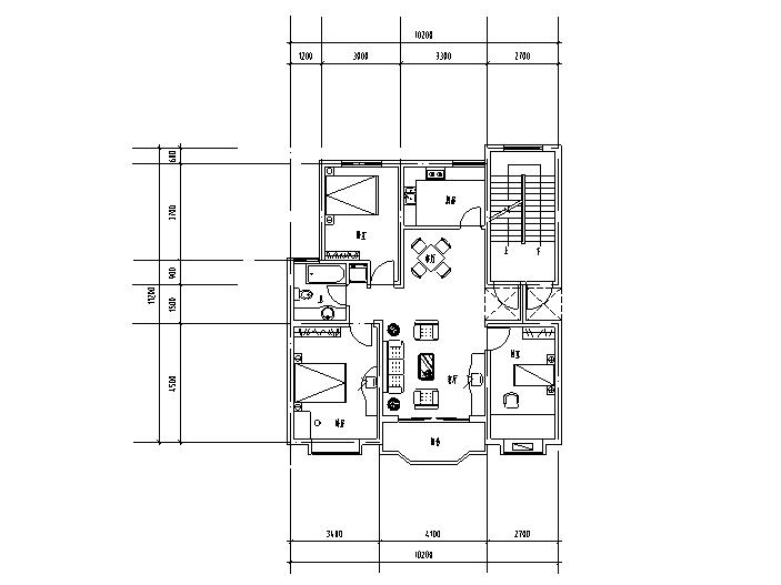 41种独户户型设计图(CAD)