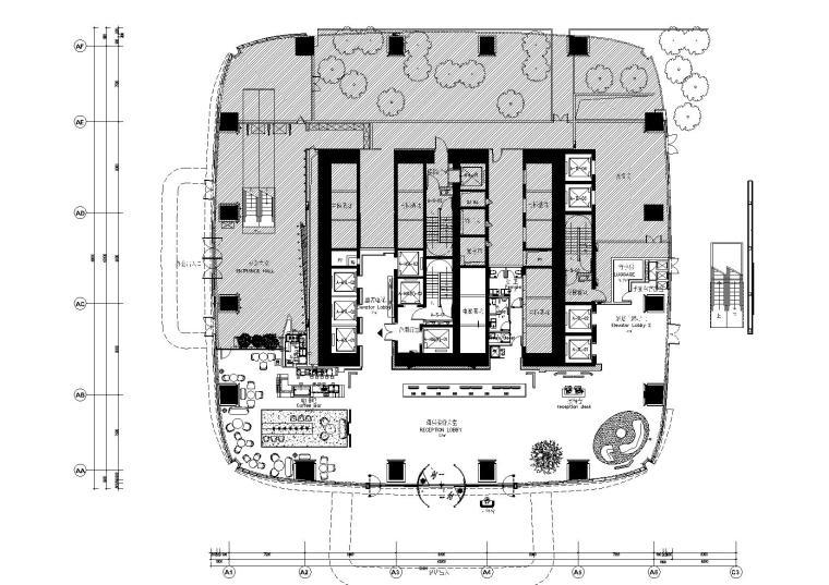 [深圳]网红酒店·南山中洲万豪CAD竣工图