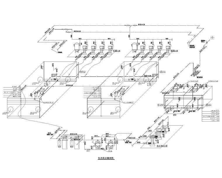 生活泵房轴测图