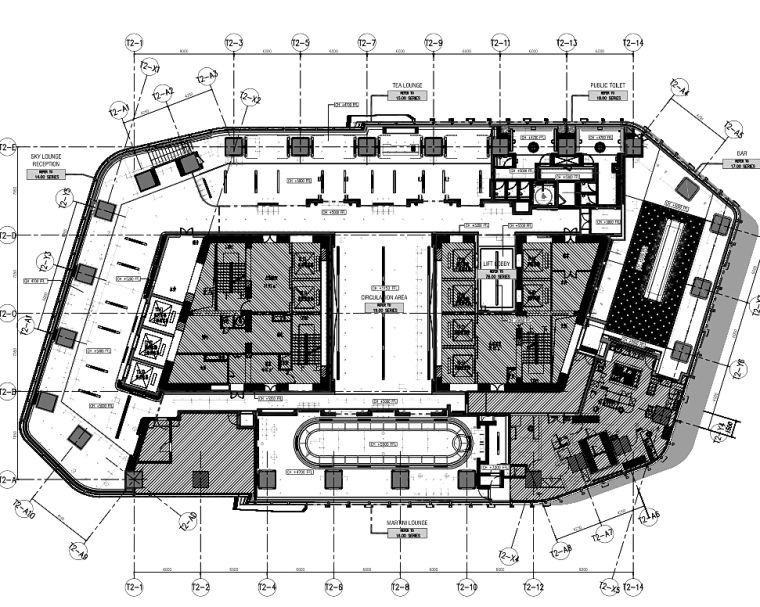 南京卓美亚酒店室内装修施工图+软装方案
