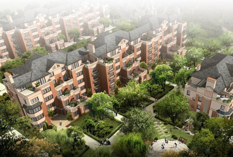 欧陆景观案例文本资料下载-[上海]欧陆风格风格住宅建筑方案文本