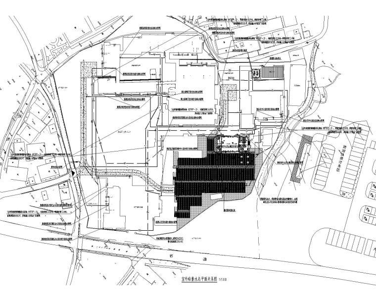 浙江温州矾矿车间改造室外场地给排水施工图