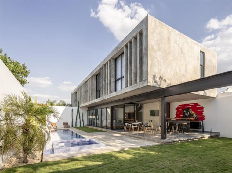墨西哥集装箱式混凝土公园住宅