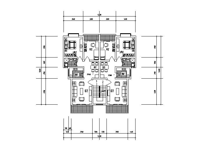9套1梯2户对称户型设计图-1梯2户对称户型设计图6