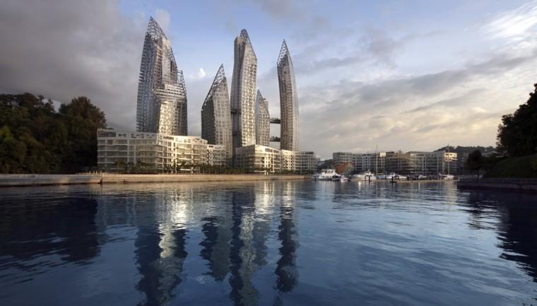新加坡吉宝湾苑映水住宅模型设计