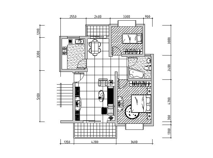 22种经典套房户型设计图(CAD)