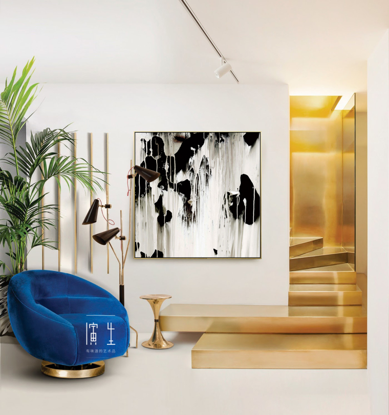 手绘抽象油画——在室内设计中的应用