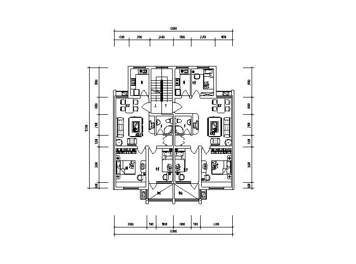 24种住宅平面户型设计图(CAD)
