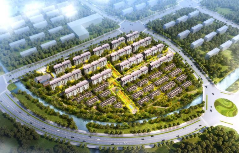 [江苏]南通新中式住宅区规划建筑方案文本