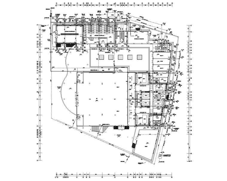 学校食堂浴室给排水消防设计施工图