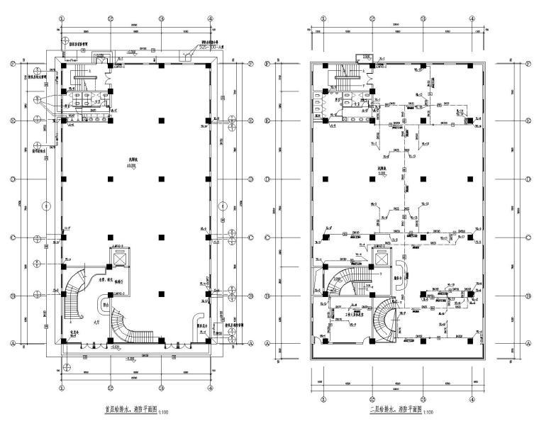 七层洗脚城招待所给排水施工图