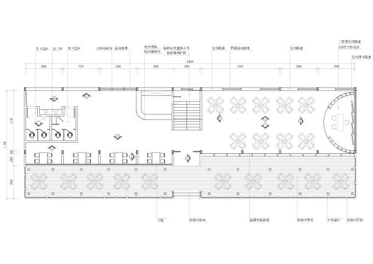 [成都]新津花园镇度假村茶楼施工图+效果图