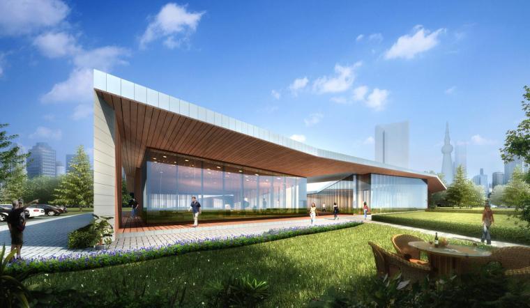 [广东]绿地佛山售楼处建筑模型设计