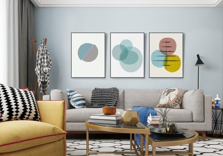 家居装饰画——家庭客厅沙发背景墙组合装饰