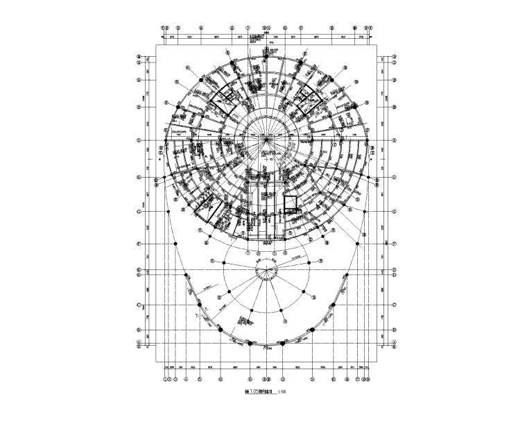 框架剪力墙结构科技馆建筑结构施工图