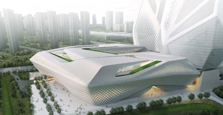 南京国际青年文化中心概念方案+建筑效果图