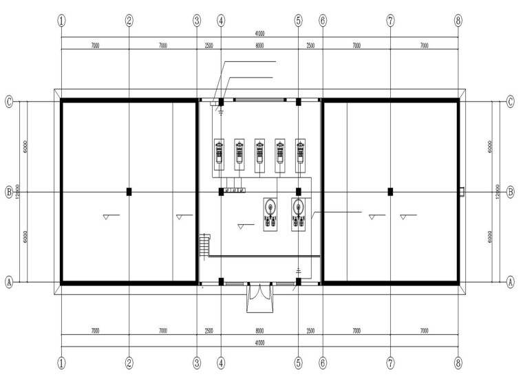 某药品生产厂消防泵房电气施工图