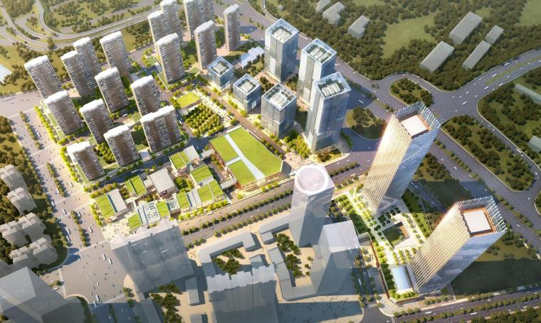 [广西]南宁绿地中央广场住宅建筑模型