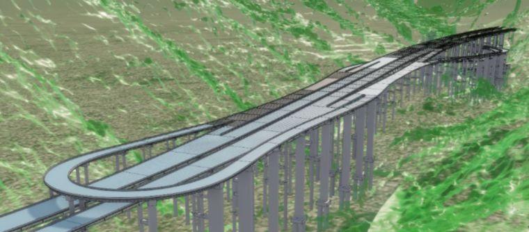 城开高速雪宝山互通项目的施工深化BIM应用