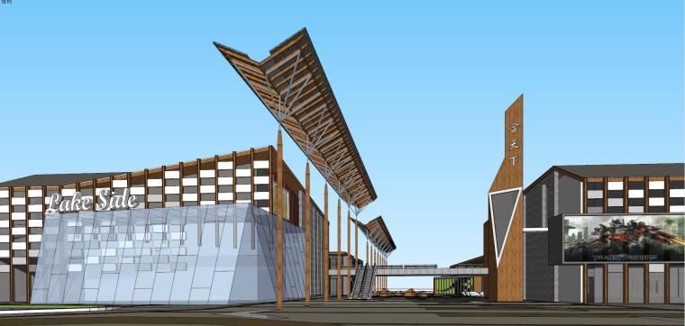 岭南风格商业街建筑模型设计