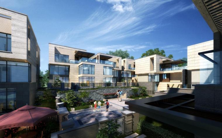 新亚洲风格融信长岛别墅建筑模型设计