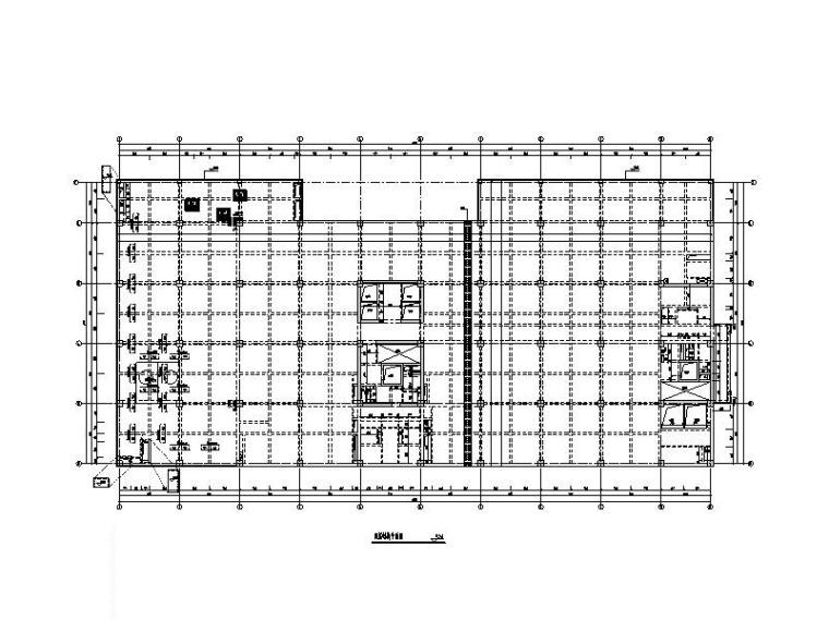 品牌电脑生产用房结构施工图(框架剪力墙)