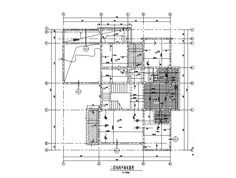 钢混异形柱框架结构G型别墅建筑结构施工图