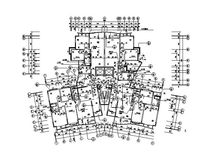 88套带电梯住宅户型平面图(CAD)
