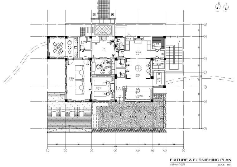 西双版纳万达文华度假酒店内装CAD施工图