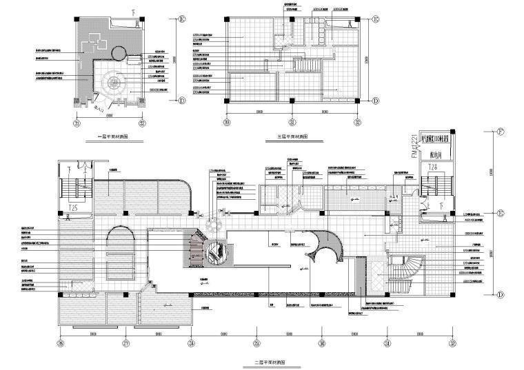 两岸咖啡厅室内装修工程CAD施工图