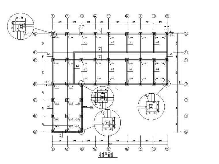 钢框架办公楼建筑结构施工图(含模型)