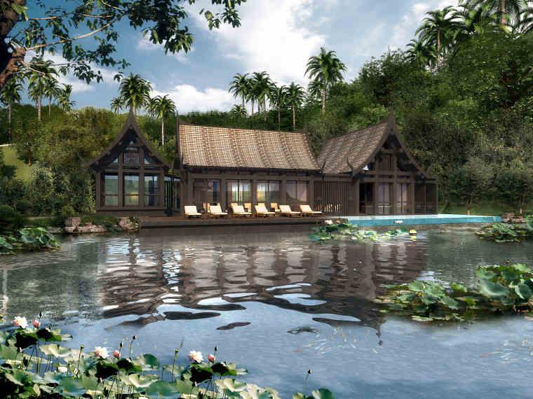 西双版纳万达文华度假酒店室内设计效果图