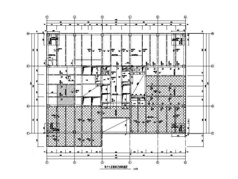 200m框筒结构酒店办公楼建筑结构施工图2018