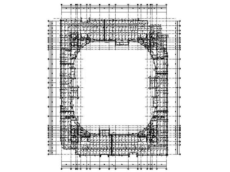 框-支撑结构体育馆建筑结构施工图2014