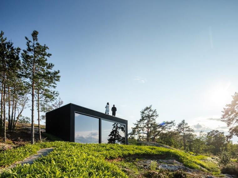 瑞典海岛上的桑拿房