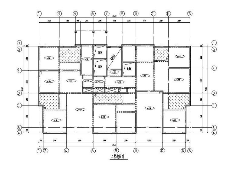 13层钢混剪力墙结构住宅楼建筑结构施工图
