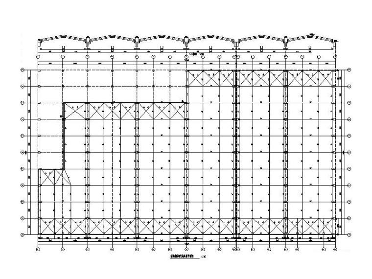 局部夹层施工图资料下载-钢混排架结构仓库建筑结构施工图(钢屋面)