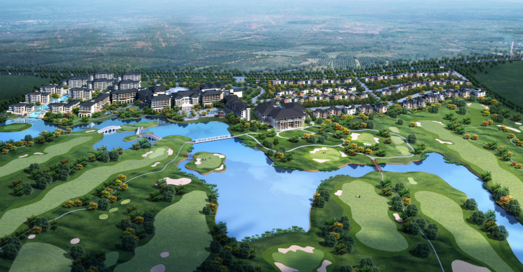 上海崇明金茂凯悦酒店度假村规划方案
