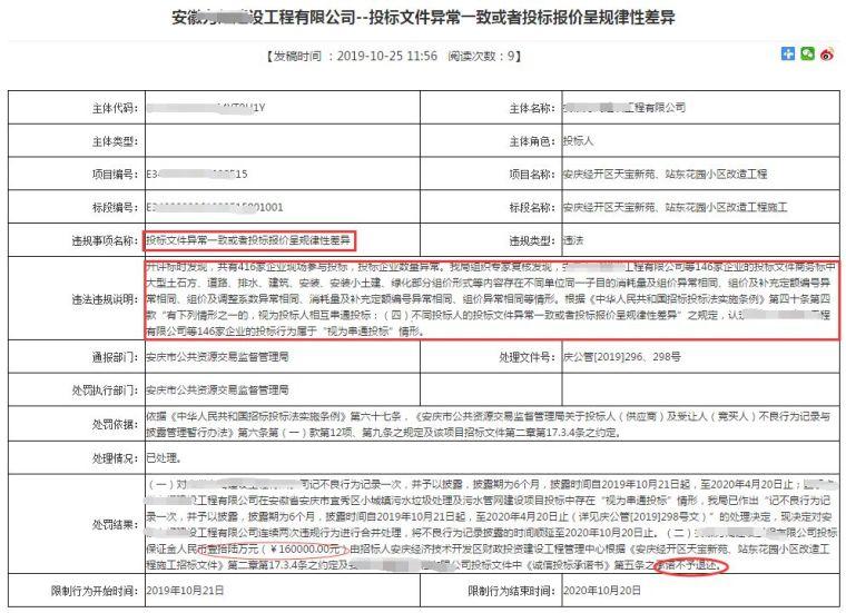 """146家企业围标项目,被认定为""""串通投标""""!"""