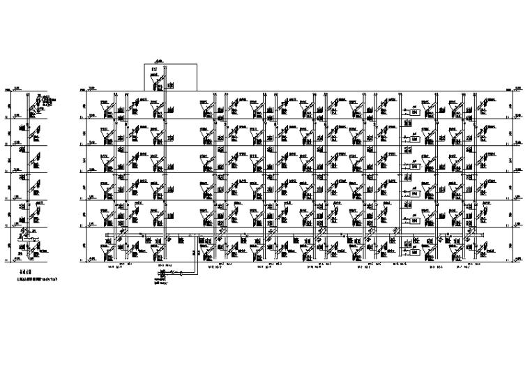 天津国际大学宿舍楼暖通施工图