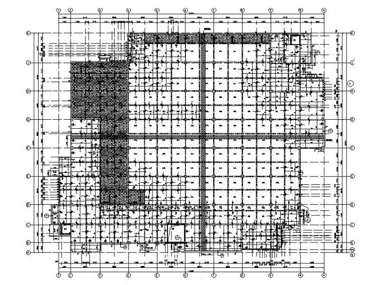 6层框架结构大学学生食堂建筑结构施工图