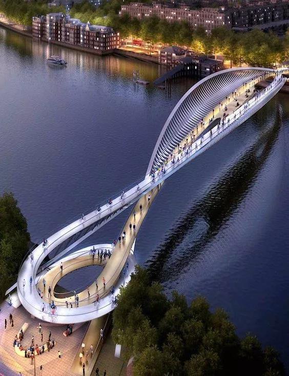桥梁设计方案图,创新无极限!很美很美!