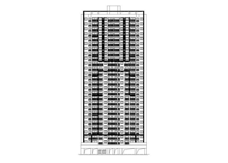 [贵州]瑞达佳苑现代高层住宅设计建筑施工图