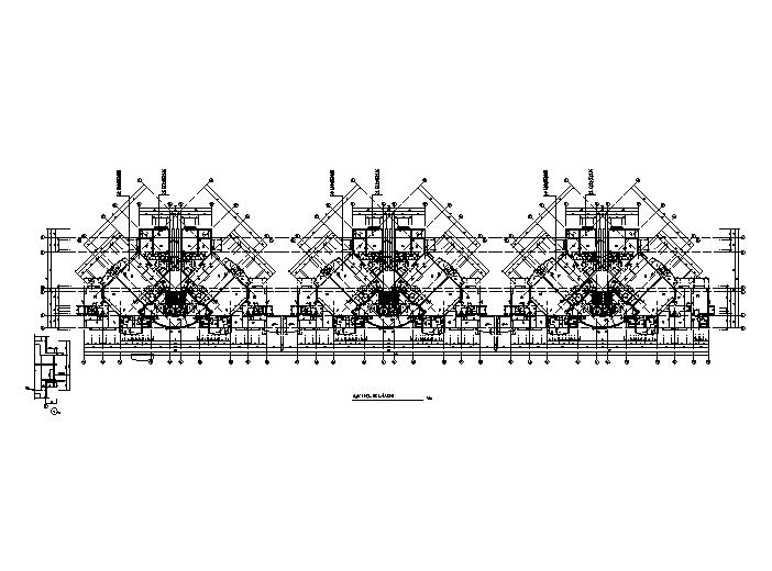高层住宅标准层户型平面图(CAD)