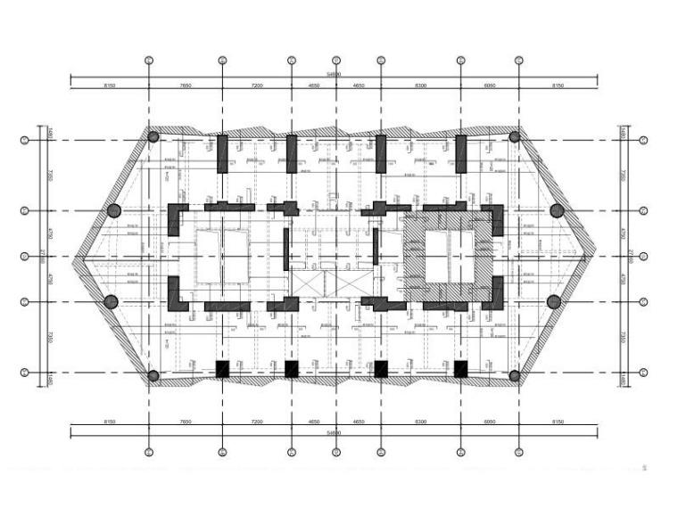 塔3八~十七层板配筋图