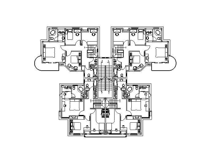 46种多层住宅户型平面图(CAD)