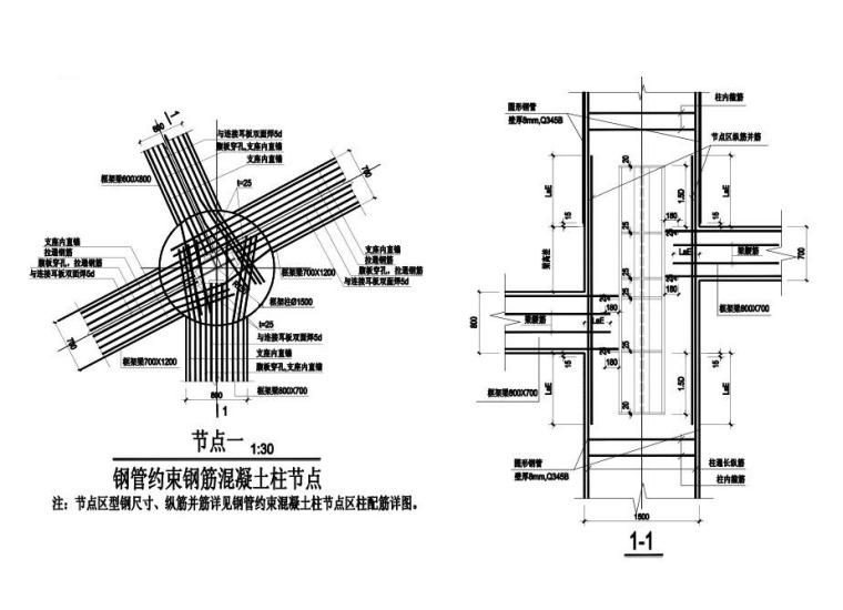 钢管约束钢筋混凝土柱节点