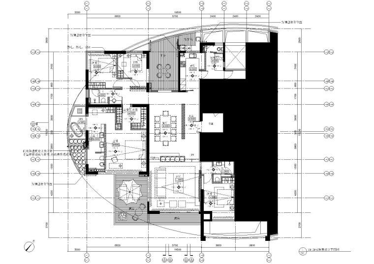 [厦门]海峡国际社区二期样板房标准层施工图
