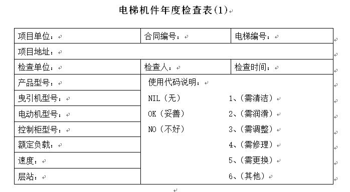 电梯安装施工组织设计(附各类检查表)