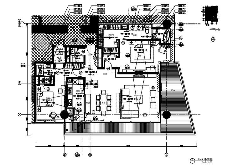 [广东]-深圳湾一号T5-6C户型样板房施工图